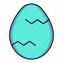 chicken, easter, egg, spring icon