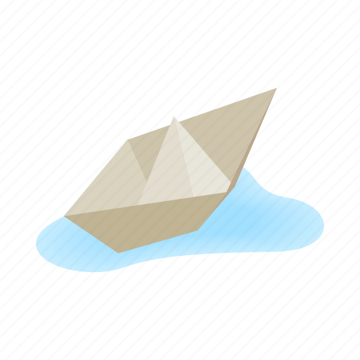 boat, isometric, origami, paper, ship, toy, travel icon