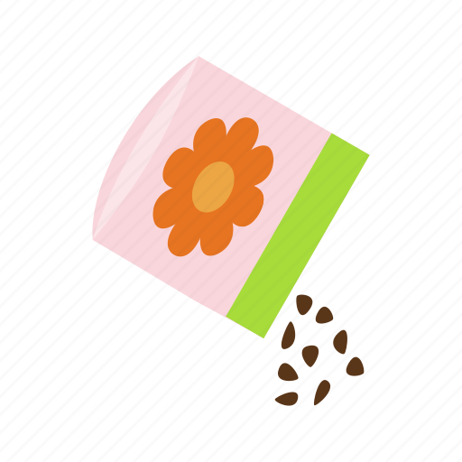 bag, closeup, food, isometric, organic, plant, seed icon