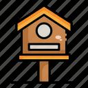 bird, building, house, property
