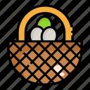 basket, egg, shop