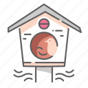 bird, birdhouse, house, nest, spring