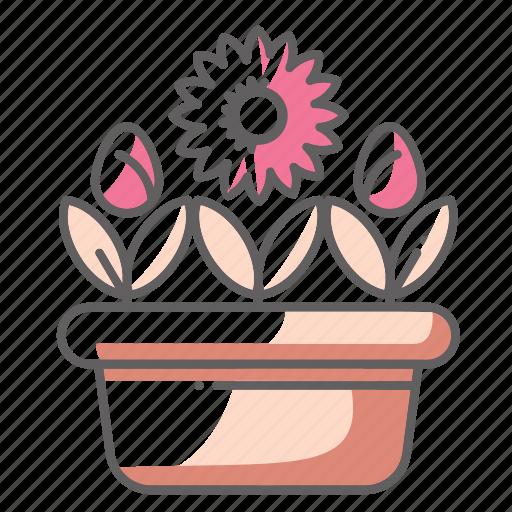 Flowers, pot, rose, spring icon - Download on Iconfinder