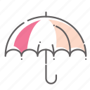 forecast, protection, rain, summer, umbrella, weather