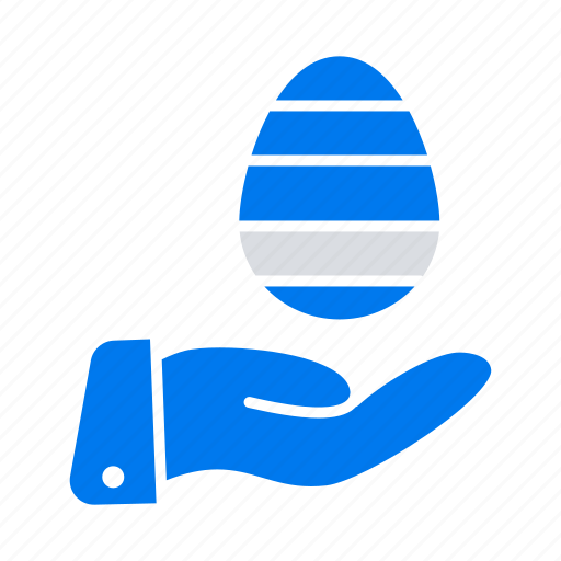 easter, egg, hand, nature icon