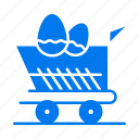 cart, easter, shopping, trolley