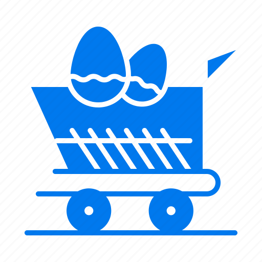 Cart, easter, shopping, trolley icon - Download on Iconfinder