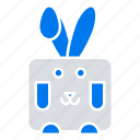 bynny, easter, holiday, rabbit icon