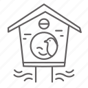 bird, birdhouse, house, nest, spring icon