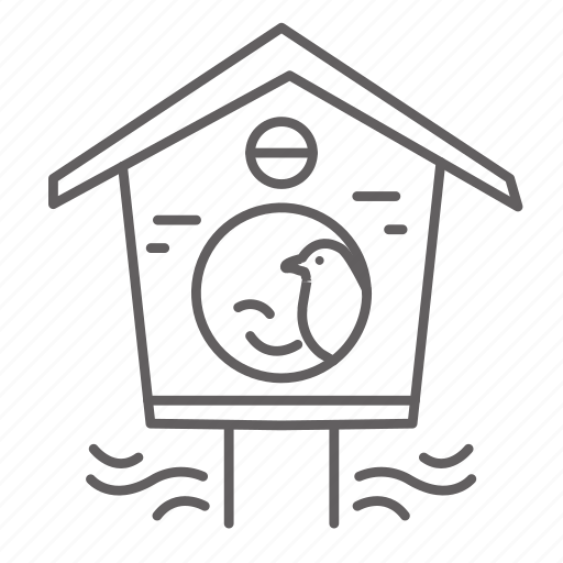bird, birdhouse, house, nest, spring icon
