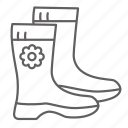 boots, footwear, nature, season, shoes, spring icon