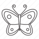 butterfly, garden, insect, moth, spring season icon
