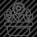 flowers, garden, pot, rose, spring icon