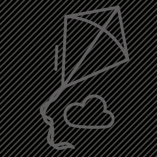Childhood, festival, flying, kite, spring icon - Download on Iconfinder