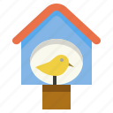 bird, decorate, garden, house icon