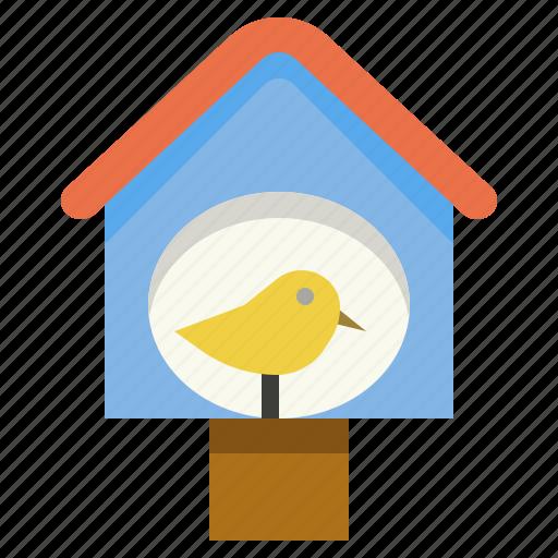 bird, decorate, garden, house icon