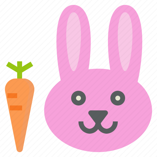 Animal, bunny, carrot, face, rabbit icon - Download on Iconfinder