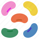 bean, candy, easter, jelly, sweet icon