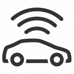 car, gps tracker, signal, tracker, tracking, wifi, wireless icon