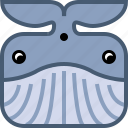 animals, avatar, fish, ocean, square, whale, yumminky icon