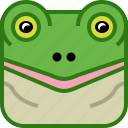 amphibian, animals, avatar, frog, pond, square, yumminky icon