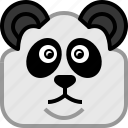 animals, bear, head, japan, panda, square, yumminky icon