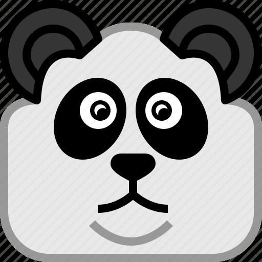 animals, bear, head, japan, panda, square, yumminky icon