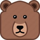 animals, avatar, bear, grizly, square, teddy, yumminky icon