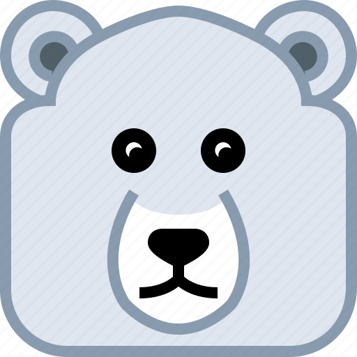 Animals, avatar, bear, ice, polar, square icon - Download on Iconfinder
