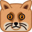 animals, avatar, fox, head, square, wild, yumminky icon