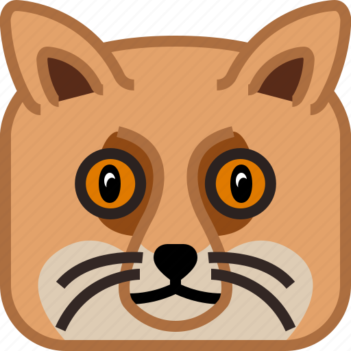 animals, avatar, fox, head, square, wild, yumminky icon