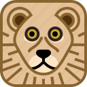 animals, avatar, cat, lion, square, yumminky, zoo icon
