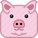 animals, avatar, farm, pig, square, swine, yumminky icon