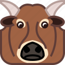 animals, avatar, bull, cow, farm, square, yumminky icon