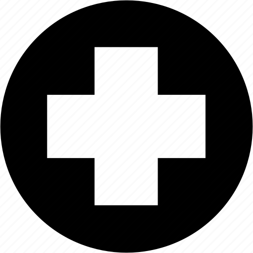 circle, cross, medical, medicine icon