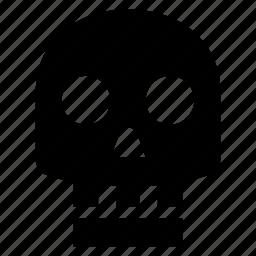 bones, dead, death, face, head, person, skull icon