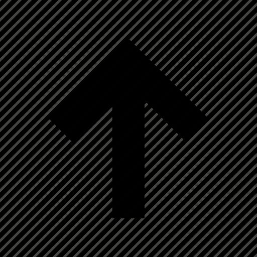 arrow, direction, navigation, ui, up icon