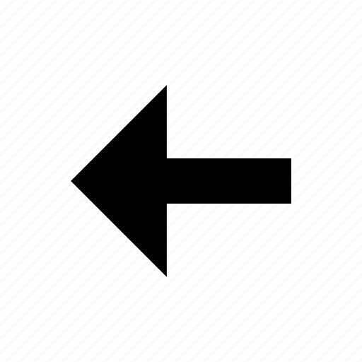 arrow, direction, left, navigation icon
