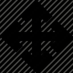 arrow, arrows, drag, drop, interface, move icon