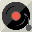audio, disc, music, sound, vintage, vinyl icon