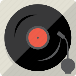 audio, disc, music, sound, vintage, vinyl icon