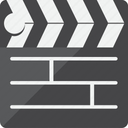 clapperboard, film, movie, video icon