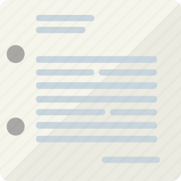 letter, mail, sheet icon
