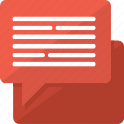 comment, dialog, message, talk icon
