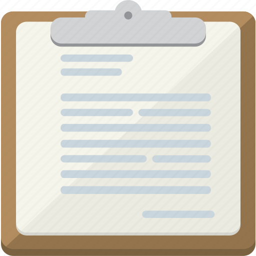 clipboard, note, notes, sheet icon