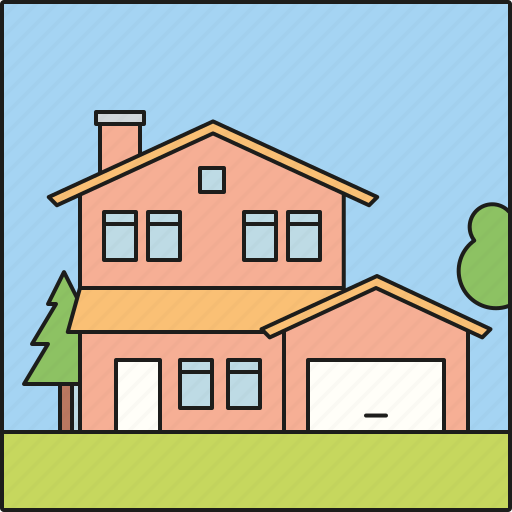 architecture, facade, home, house, residential, rural icon