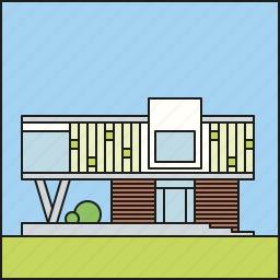 architecture, contemporary, facade, home, house, residential, urban icon