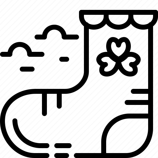 cloth, patrick, shamrock, sock icon