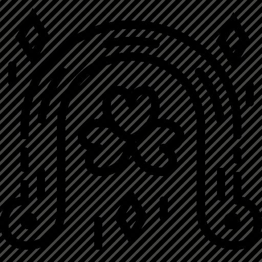 horseshoe, lucky, metal, patrick icon