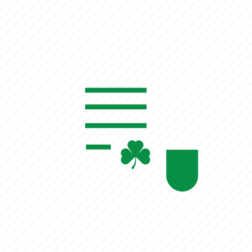 17 maret, day, eco, green, icon, invite, ireland, irish, leaf, news, paper, patrick, patrick's day, saint, saint patrick's day, st patrick, st patrick day icon